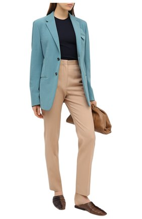 Женские шерстяные брюки JIL SANDER бежевого цвета, арт. JSPR301900-WR202500 | Фото 2