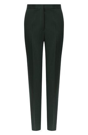 Женские шерстяные брюки JIL SANDER темно-зеленого цвета, арт. JSPR301900-WR202500 | Фото 1