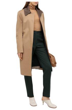 Женские шерстяные брюки JIL SANDER темно-зеленого цвета, арт. JSPR301900-WR202500 | Фото 2