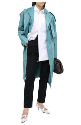 Женские шерстяные брюки JIL SANDER темно-синего цвета, арт. JSPR301900-WR202500   Фото 2