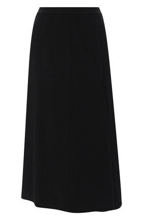 Женская юбка из вискозы JIL SANDER черного цвета, арт. JSPR351310-WR380200 | Фото 1