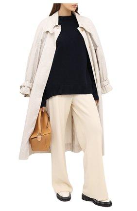 Женский свитер из шерсти и кашемира JIL SANDER темно-синего цвета, арт. JSPR752051-WRY21058   Фото 2