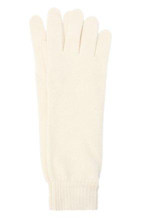 Женские кашемировые перчатки JIL SANDER кремвого цвета, арт. JSPR754111-WRY10008 | Фото 1