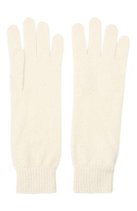Женские кашемировые перчатки JIL SANDER кремвого цвета, арт. JSPR754111-WRY10008 | Фото 2
