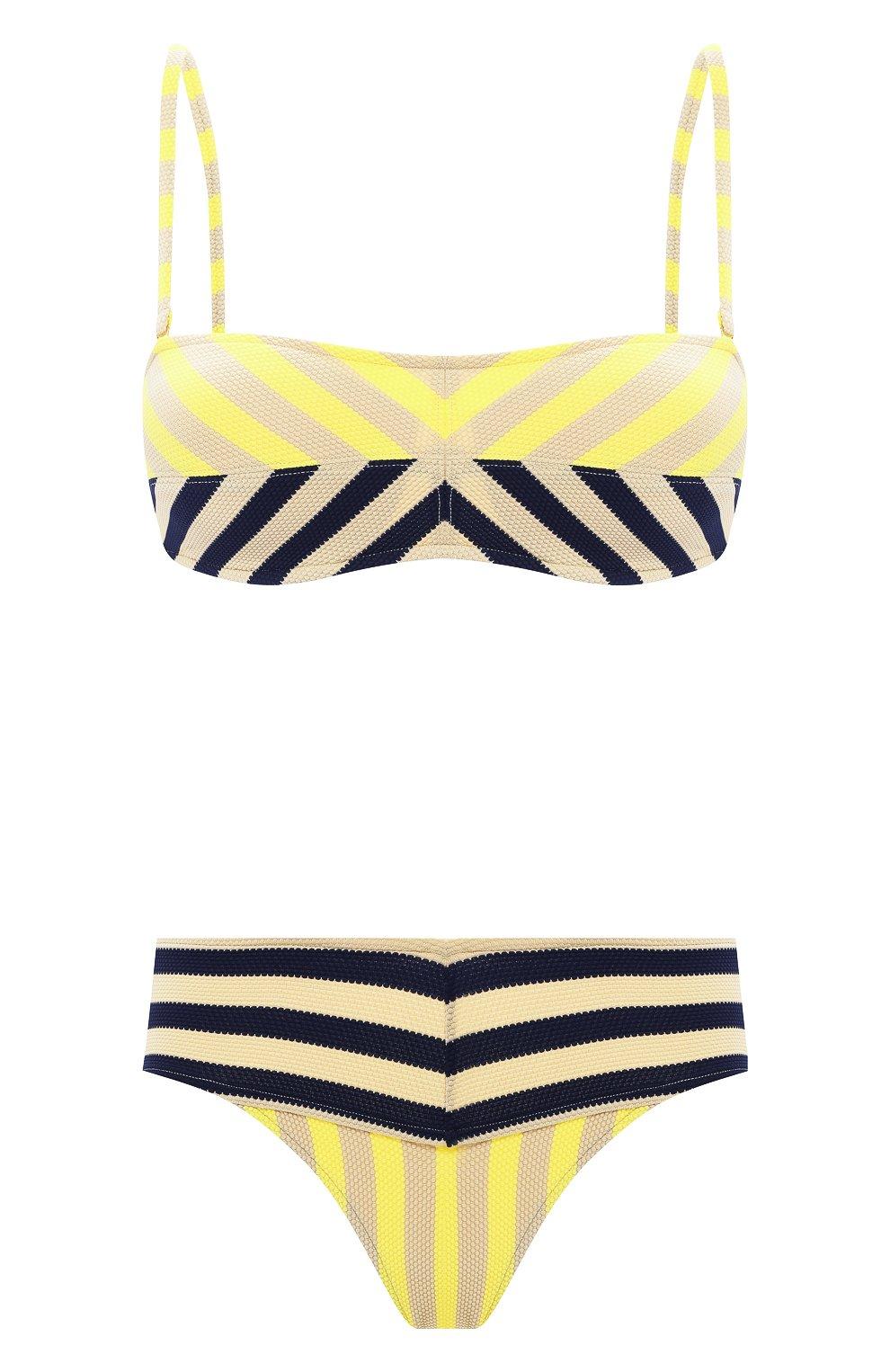 Женский раздельный купальник ANDRES SARDA желтого цвета, арт. 3408618-3408650 | Фото 1 (Материал внешний: Синтетический материал)