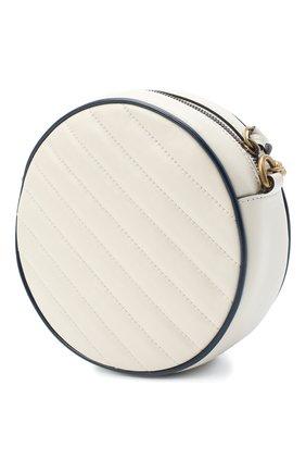 Женская сумка gg marmont mini GUCCI белого цвета, арт. 550154/00LFX | Фото 3