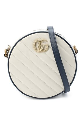 Женская сумка gg marmont mini GUCCI белого цвета, арт. 550154/00LFX | Фото 5