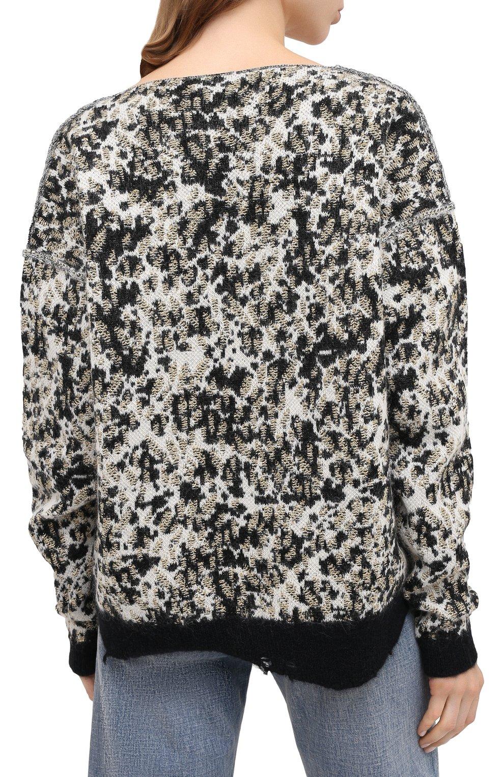 Женский свитер SAINT LAURENT разноцветного цвета, арт. 632020/YARZ2 | Фото 4