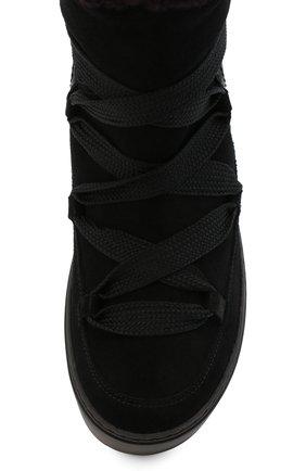 Женские замшевые ботинки SEE BY CHLOÉ черного цвета, арт. SB35151A/12230 | Фото 5