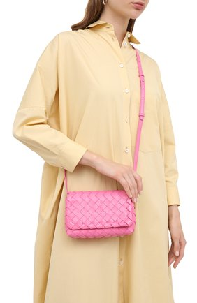 Женская сумка BOTTEGA VENETA розового цвета, арт. 609412/VCPP5 | Фото 2