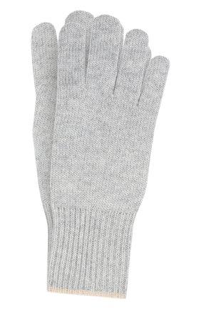 Мужские кашемировые перчатки BRUNELLO CUCINELLI серого цвета, арт. M2293118 | Фото 1
