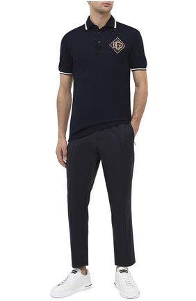 Мужской шерстяные брюки DOLCE & GABBANA синего цвета, арт. GYACET/FU2Z9 | Фото 2