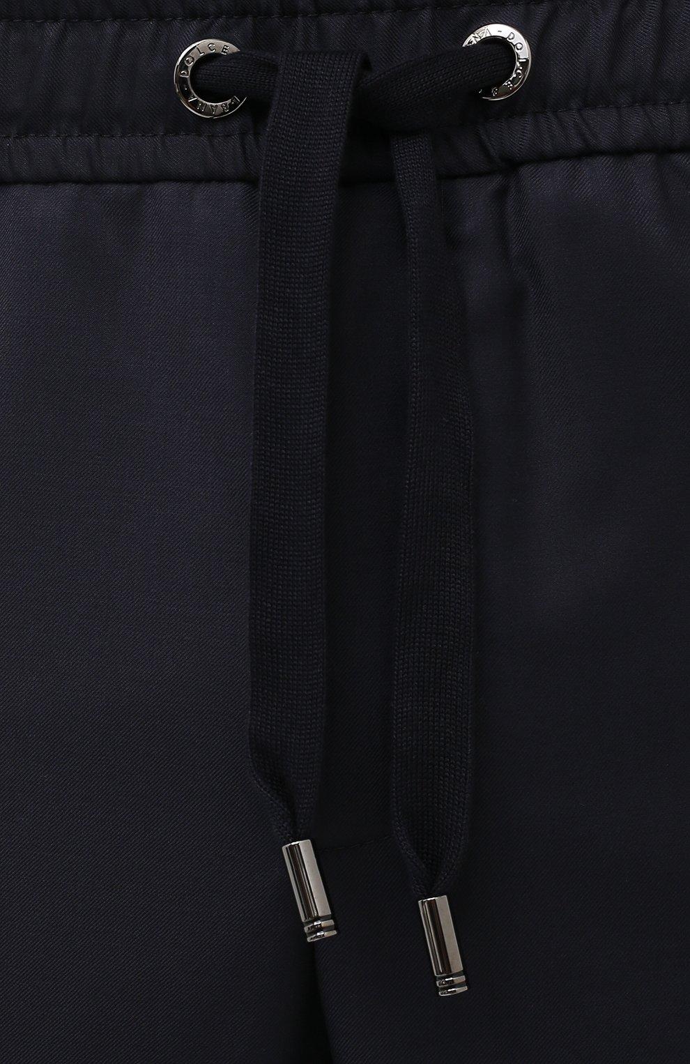 Мужские шерстяные брюки DOLCE & GABBANA синего цвета, арт. GYACET/FU2Z9   Фото 5 (Материал внешний: Шерсть; Длина (брюки, джинсы): Стандартные; Случай: Повседневный; Стили: Кэжуэл)