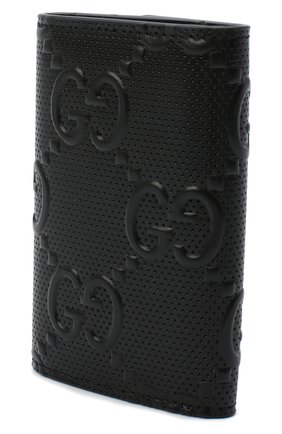 Мужская кожаный футляр для ключей GUCCI черного цвета, арт. 625565/1W3AN | Фото 2 (Материал: Кожа)