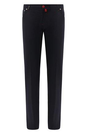 Мужские шерстяные брюки KITON темно-серого цвета, арт. UPNJSK01T54 | Фото 1