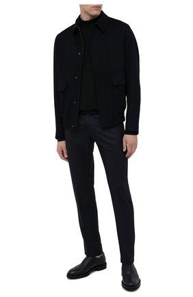 Мужские шерстяные брюки KITON темно-серого цвета, арт. UPNJSK01T54   Фото 2