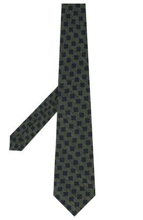 Мужской галстук из шерсти и шелка KITON зеленого цвета, арт. UCRVKLC05G53 | Фото 2