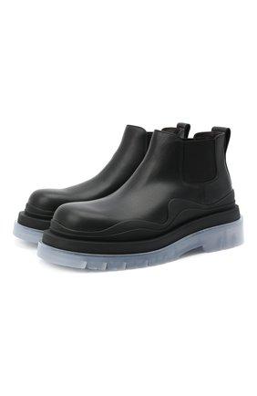 Мужские кожаные челси tire BOTTEGA VENETA прозрачного цвета, арт. 630281/VBS50 | Фото 1 (Каблук высота: Высокий; Материал внутренний: Натуральная кожа; Подошва: Массивная; Мужское Кросс-КТ: Челси-обувь, Сапоги-обувь)