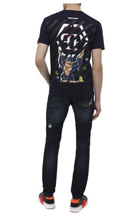 Мужская хлопковая футболка PHILIPP PLEIN синего цвета, арт. F20C MTK4761 PJY002N | Фото 2