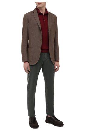 Мужской брюки из хлопка и шерсти KITON темно-зеленого цвета, арт. UPNJSJ02T40 | Фото 2
