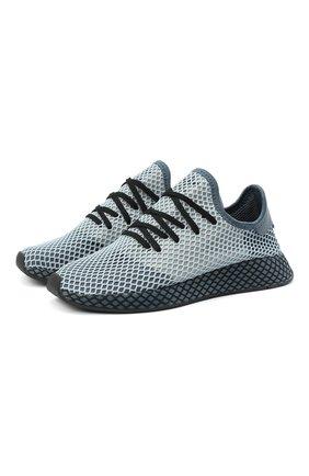 Мужские текстильные кроссовки deerupt runner ADIDAS ORIGINALS серого цвета, арт. EG5354 | Фото 1