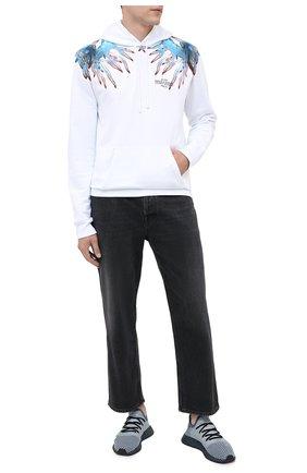 Мужские текстильные кроссовки deerupt runner ADIDAS ORIGINALS серого цвета, арт. EG5354 | Фото 2