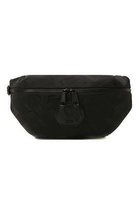 Мужская текстильная поясная сумка BURBERRY черного цвета, арт. 8029991 | Фото 1