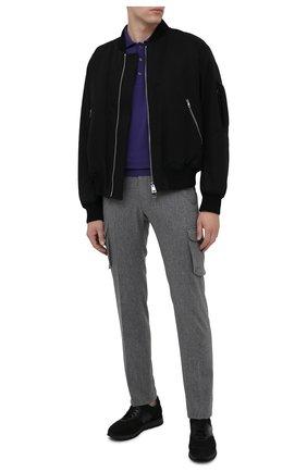 Мужское шерстяное поло SVEVO фиолетового цвета, арт. 1377SA20/MP13 | Фото 2