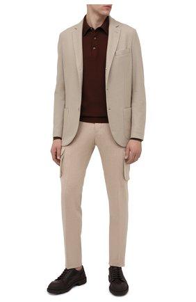 Мужское поло из кашемира и шелка SVEVO коричневого цвета, арт. 0670/1SA20/MP06/2 | Фото 2