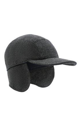 Мужской кашемировая бейсболка SVEVO темно-серого цвета, арт. 01041SA20/MP01/2 | Фото 1