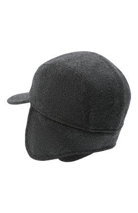 Мужской кашемировая бейсболка SVEVO темно-серого цвета, арт. 01041SA20/MP01/2 | Фото 2