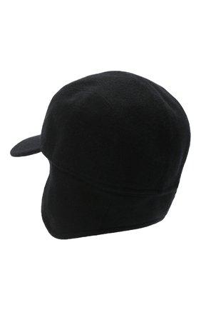 Мужской кашемировая бейсболка SVEVO черного цвета, арт. 01041SA20/MP01/2 | Фото 2