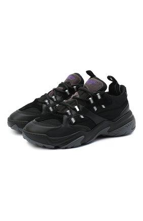 Мужские комбинированные кроссовки valentino garavani afterdusk VALENTINO черного цвета, арт. UY2S0D52/EIR | Фото 1