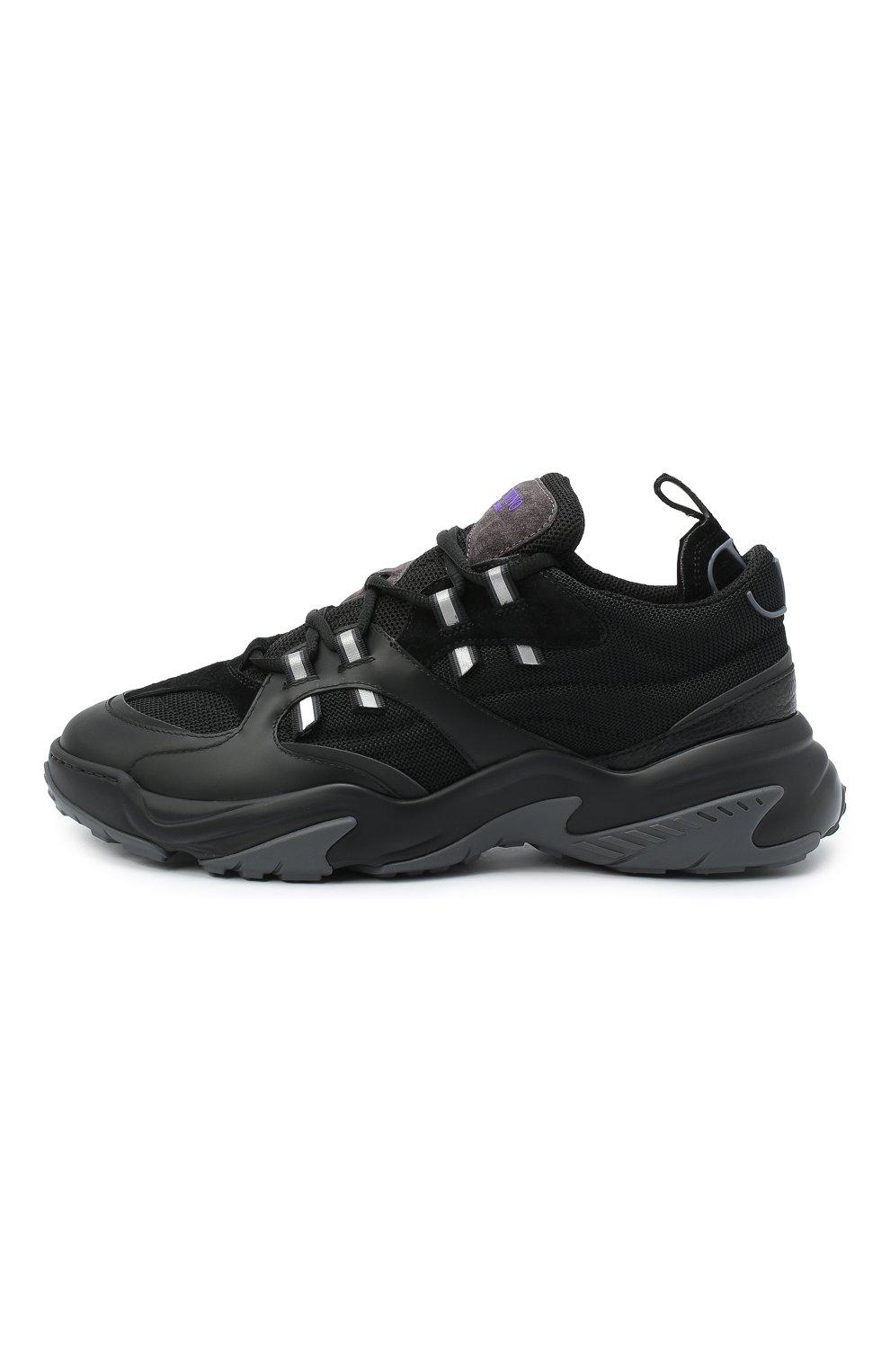 Мужские комбинированные кроссовки afterdusk VALENTINO черного цвета, арт. UY2S0D52/EIR   Фото 3 (Материал внешний: Текстиль; Стили: Гранж; Материал внутренний: Текстиль; Подошва: Массивная)