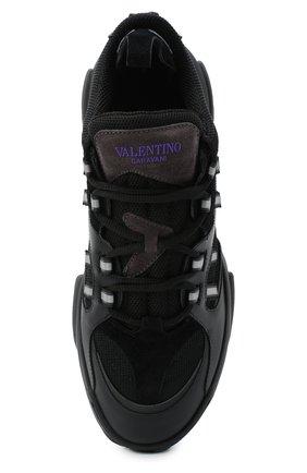 Мужские комбинированные кроссовки afterdusk VALENTINO черного цвета, арт. UY2S0D52/EIR   Фото 5 (Материал внешний: Текстиль; Стили: Гранж; Материал внутренний: Текстиль; Подошва: Массивная)