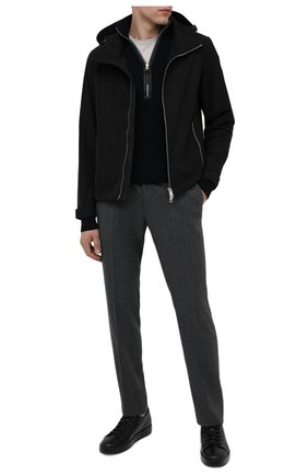 Мужские кожаные кеды SANTONI черного цвета, арт. MBCU21405NE0RUDEN01   Фото 2