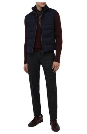 Мужские кожаные кеды SANTONI бордового цвета, арт. MBGL20850CHIRG0TB66 | Фото 2
