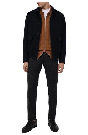 Мужские кожаные кеды SANTONI черного цвета, арт. MBGL20850NE0RSSSN01 | Фото 2