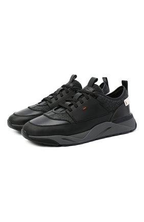 Мужские комбинированные кроссовки SANTONI темно-серого цвета, арт. MBI021380ANERSDKN60 | Фото 1