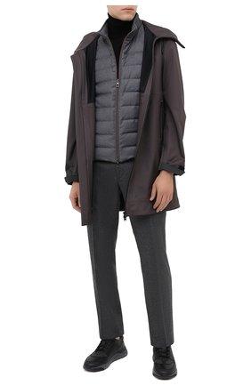 Мужские комбинированные кроссовки SANTONI темно-серого цвета, арт. MBI021380ANERSDKN60 | Фото 2