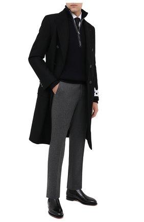 Мужские кожаные челси SANTONI черного цвета, арт. MCC016749MC3HVVDN01   Фото 2