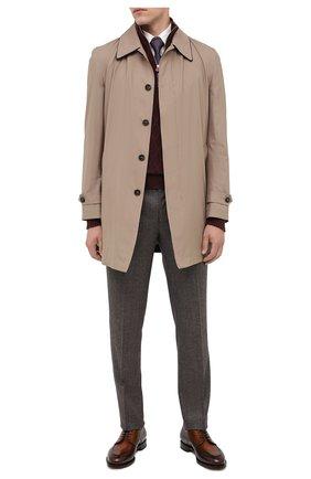 Мужской кожаные дерби SANTONI коричневого цвета, арт. MCC016821MC3HNGCS53   Фото 2