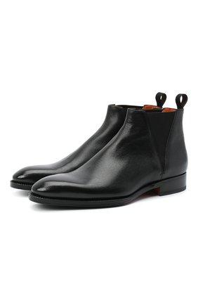 Мужские кожаные челси SANTONI черного цвета, арт. MCCR11605JJ2IRICN01 | Фото 1