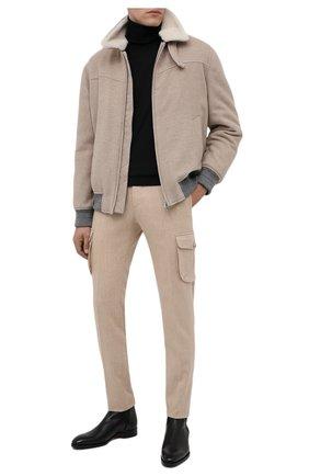 Мужские кожаные челси SANTONI черного цвета, арт. MCCR11605JJ2IRICN01 | Фото 2