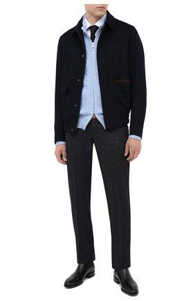 Мужские кожаные челси SANTONI черного цвета, арт. MCLE17027BI2IVVDN01 | Фото 2