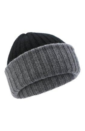 Мужская кашемировая шапка FEDELI черного цвета, арт. 3UI07305   Фото 1