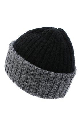 Мужская кашемировая шапка FEDELI черного цвета, арт. 3UI07305   Фото 2