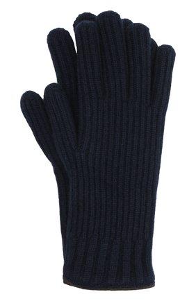 Мужские кашемировые перчатки FEDELI темно-синего цвета, арт. 3UI01004 | Фото 1