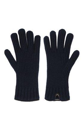 Мужские кашемировые перчатки FEDELI темно-синего цвета, арт. 3UI01004 | Фото 2