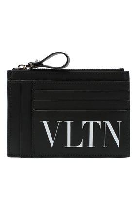 Мужской кожаный футляр для кредитных карт valentino garavani VALENTINO черного цвета, арт. UY2P0688/LVN | Фото 1